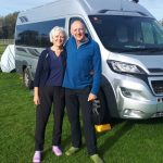 Rob and Heather by camper van