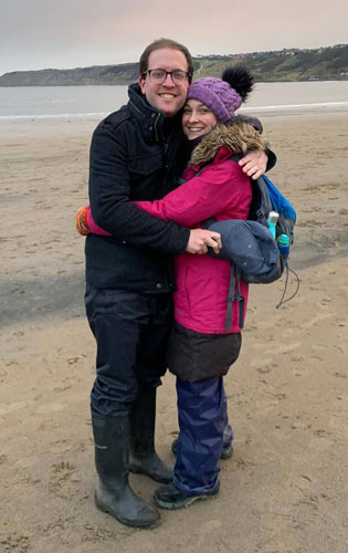 Tom and Emma on the beach